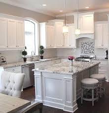 white kitchen grey countertop white kitchen cabinets grey granite countertops