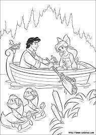 Disegni Disney Principesse Ariel Eric In Barca Disegni Da Colorare