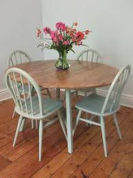 vine ercol dining table and chairs painted farrow ball blue gray