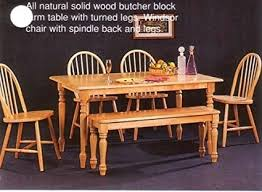 butcher block dining table. New Butcher Block Farm Dining Table \u0026 4 Chairs Bench