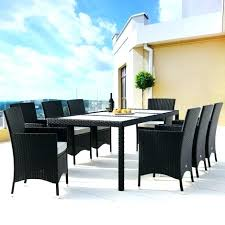 48 round glass table top rattan dining table and chairs set black 8 frosted glass top