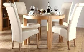 solid wood kitchen table 4 chairs set of with casters oak and round wooden dining small