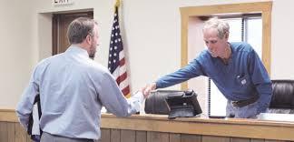 Meeting town attorney Pat Carpenter - Moorcroft Leader
