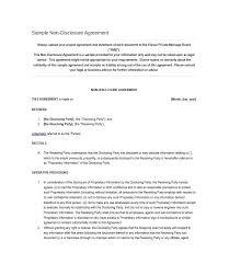 Full Non Disclosure Agreement New Prepasaintdenis Resume Cover