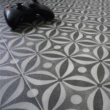 black vinyl flooring cement tile pattern for homes kitchens bathrooms hallways