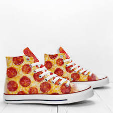 Details About Pepperoni Pizza Custom Hi Top Designers Shoes Prospect Avenue Sneakers