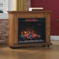 rolling mantel electric fireplace
