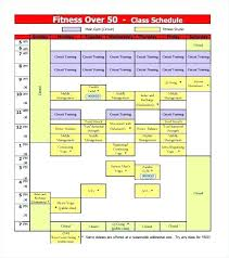 Free College Schedule Ate For Class Schedule Free Fitness Download Word Blank