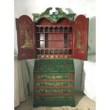 desk oriental hand painted drop front secretary desk hand painted secretary desk with hutch italian