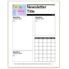 Free Teacher Newsletter Templates Free Classroom Newsletter Templates For Microsoft Word Eavdti