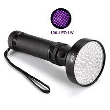 Alüminyum Siyah Kabuk 395-400nm Ultraviyole Işık 100 LED UV El Feneri Torch  Pet Köpek Ve Kedi Idrar Leke Bulucu Bu Kategori. Led Aydınlatması -  Shopsbest.news