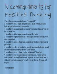 Ten Commandments for Positive Thinking | Craftzilla Conquers the World
