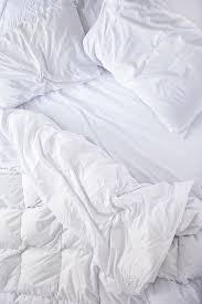 white bed sheets. White Sheets Look Tidy Wether They\u0027re Made Or Not. # Bed D