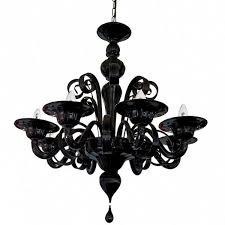 traditional chandelier murano glass incandescent 1008 8 black