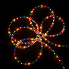 christmas rope lighting. Northlight 1,224-Count 102-ft Constant Multicolor Christmas Rope Lights In Clear Tubing Lighting O