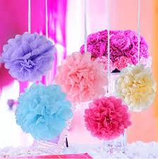 Tissue Paper Flower Centerpieces 2019 4 16 Pompon Tissue Paper Flower Balls Artificial Plants Fake Flowers Party Decoration Wedding Centerpieces Decor Flower Walls Home Decor From