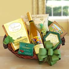white wine lover gift basket