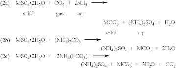 sodium carbonate and hydrochloric acid