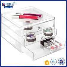 3 4 5 6 drawer clear acrylic cosmetics makeup organizer jewelry drawer with flip top tray