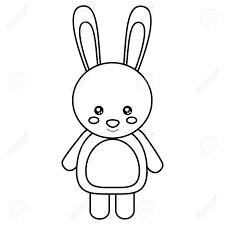 Cute Rabbit Animal Standing Cartoon Wildlife Vector Illustration