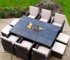 all season 11 piece cube rattan garden furniture set 10 seater uv treated