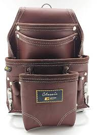 leather gold leather tool pouch carpenters tool pouch 3350 brown oil tanned 10 pockets 2 hammer holders reinforced seams com