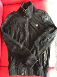 superdry crashed leather jacket used black small excellent condition mens superdry black superdry dresses