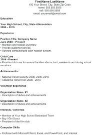 High School Graduate Resume Template Microsoft Word As Well As ...