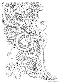 Adult Zen Anti Stress To Print Drawing Flowers Coloring Pages