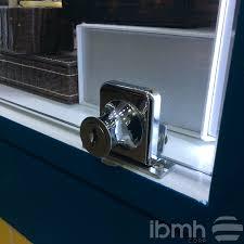 glass swing doors locks