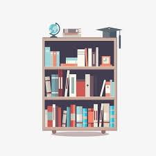 vector painted bookshelf bookshelf hand painted bookshelf cartoon bookshelf png and vector