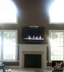 amazing tv over the fireplace d rated hdmi cables xantech ir sensor kit sound bar equipment in a closet freehold nj with tv mounted above fireplace