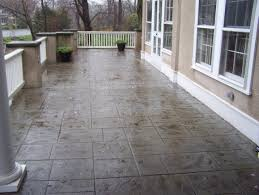 stamped concrete patio with stairs. Interesting Patio Stamped Concrete Patio On With Stairs