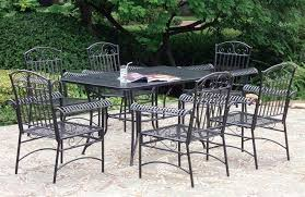 black wrought iron furniture. Wrought Iron Patio Furniture Black Painting