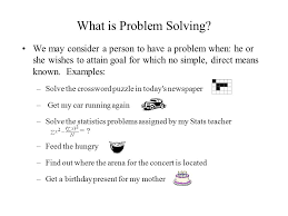 what is problem solving ppt video online  1 what