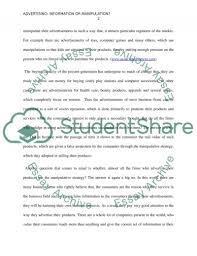 advertising information or manipulation essay advertising is more  advertising information or manipulation essay example topics advertising information or manipulation essay example