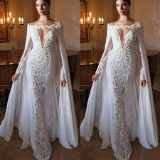 Buy Designer Evening Dresses Special Design With Cape White Appliques Lace Evening Dresses Long Women Formal Gown Evening Gowns Deep V Long Mermaid Dresses