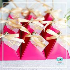 Decorating red door gifts photos : Wedding Gift Door Gift Box - Triangle Series 03 – Kokoro Gifts