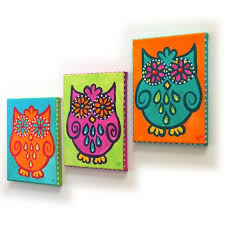 whimsical wall art 3 funky owls set 3 5x7 canvas paintings owl themed on whimsical wall art on canvas with whimsical wall art 3 funky owls set 3 5x7 canvas paintings owl