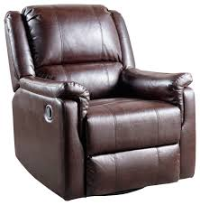 gdf studio jemma tufted brown leather swivel gliding recliner chair contemporary recliner chairs by gdfstudio