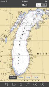 Lake Michigan Nautical Chart Lake Michigan Marine Map Gps Iphone Reviews At Iphone