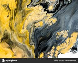 abstract hand painted black and white with gold background close up of acrylic painting on canvas wallpaper texture