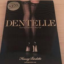Honey Birdette Dentelle Stay Ups Black Size L Nwt Nwt