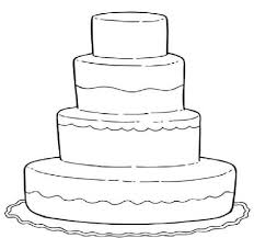 Small Picture Wedding Cake Coloring Pages For Kids Printables Pinterest