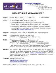 Media Advisory Starlight Oscar Night America 2010 Media Advisory
