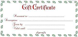 Gift Certificate Template Printable Cute Gift Certificate Template Printable Homemade Gift