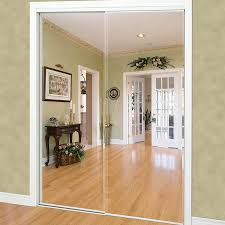 Frameless mirrored closet doors Frosted Shop Reliabilt White Mirrored Sliding Door common 60in 805in Actual 60in 80in At Lowescom Fundacionsosco Shop Reliabilt White Mirrored Sliding Door common 60in 805in