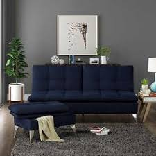 solmar blue living room sofa lounger with storage ottoman