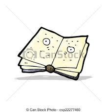 cartoon magic spell book csp22277460