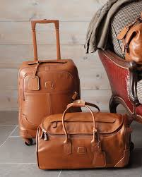 leather luxury travel bag